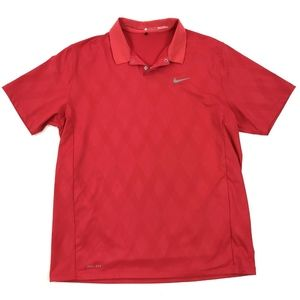 Nike Tiger Woods Collection Golf Polo Shirt Sz L